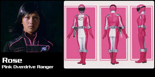 Rose ortiz pink overdrive ranger power rangers central - Power ranger samurai rose ...