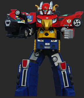 High Octane Megazord - Power Rangers RPM | Power Rangers ...