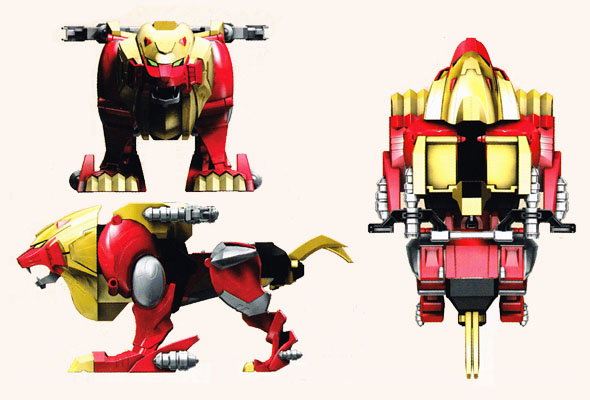 Image Gallery Lion Zord