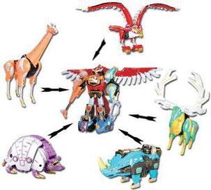All Power Rangers Wild Force Zords | www.pixshark.com ...